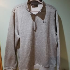 Under Armour Storm Sweater Gray Fleece ¼ Zip 2XL